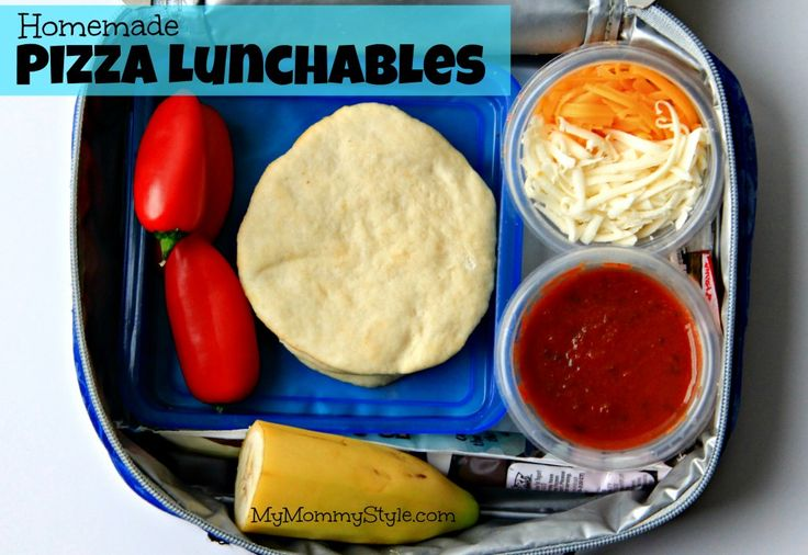 Homemade pizza lunchables