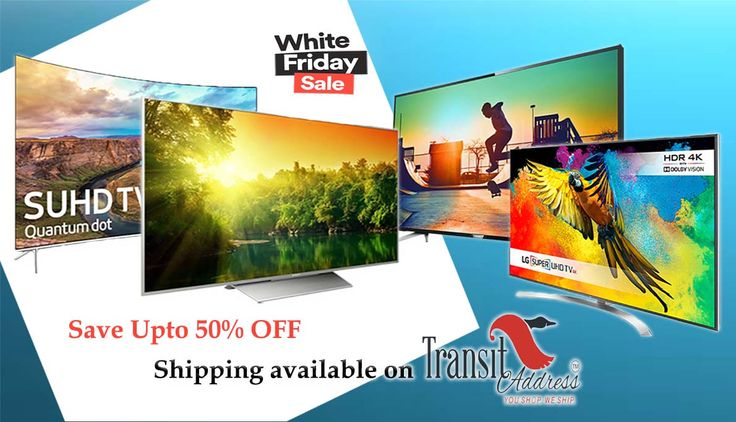Grab Upto 50% OFF on T.V's at souq.com White Friday sale begins on 22 November #ship to #India with transitaddress.com #ShopFromDubai #onlineshopping #shipping #india #save #blackfriday #thanksgiving #deals #offers #FreeShipping #WhiteFriday #sale