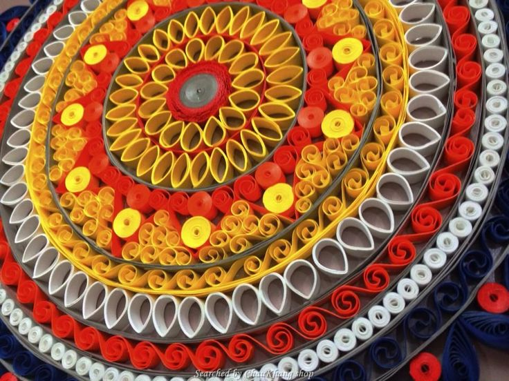 ©Anisha Sajnani - Quilled decorative circles pictures (Searched by ChauKhang)