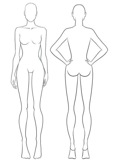 Fashion Model Sketch Templates Art 68 Ideas En 2020 Illustration De Mode Silhouette Mode Croquis De Personnages