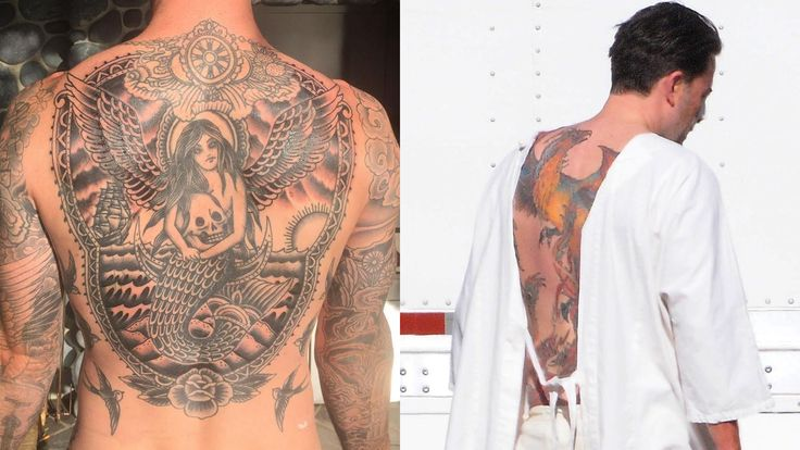 Tattoo Artist Romeo Lacoste defense male back tattoos. http://on.today.com/1LbSzAN via Today Show
