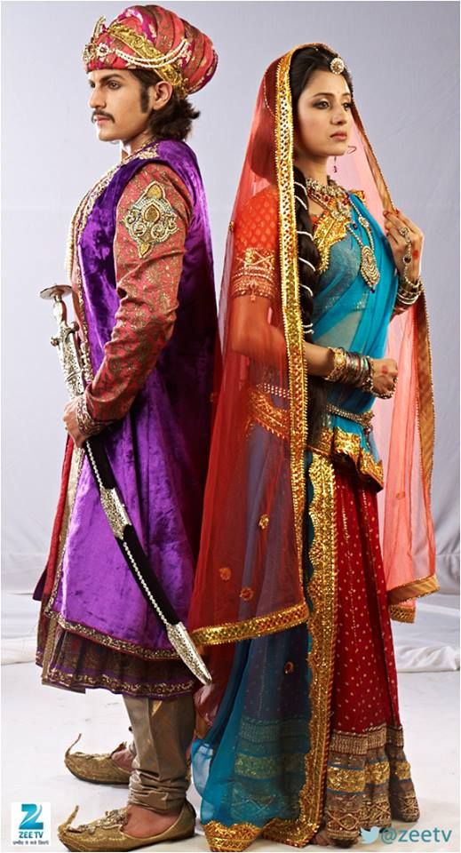Paridhi sharma and Rajat tokas from Jodha Akbar.