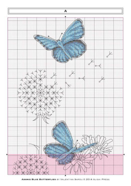 Gallery.ru / Фото #4 - Ajisai Designs - Adonis Blue Butterflies - tymannost