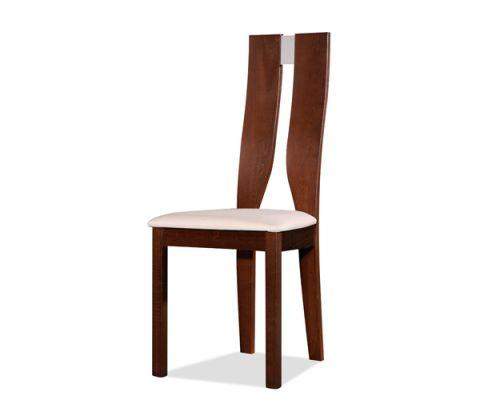 Ε7869 - NOEL  Ξύλινη καρέκλα Οξιά/καρυδί burn beech/ύφασμα μπέζ   47 EUR