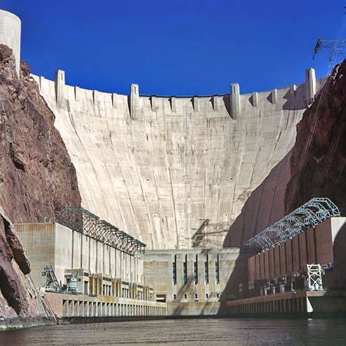 Hoover Dam. I flew over it going to Las Vegas, but we didn't visit. Next time.