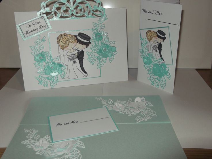 Wedding card, gift wallet and envelope, all matching