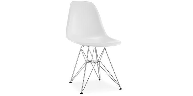 Eames DSR Stol hvit  - Plast - Hvit