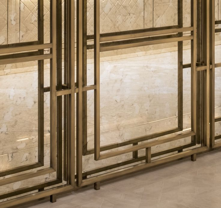 1508 London used this bespoke brass frame on antique mirror, in the new Lanesborough Club & Spa