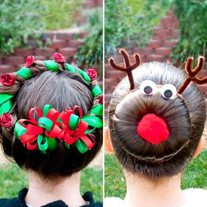 Cute christmas hairstyles for kids