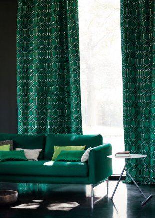 les 25 meilleures id es de la cat gorie rideaux verts sur pinterest vert meraude rideaux en. Black Bedroom Furniture Sets. Home Design Ideas