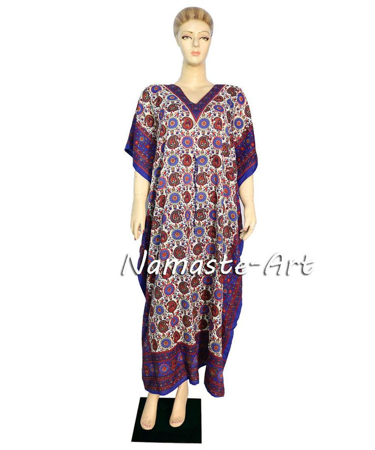 Indian Free Size Party Cover Wear Up Beach Casual Dress Wear Any Season Kaftan  #Unbranded #KaftaanBeachDressMaxi #Casual
