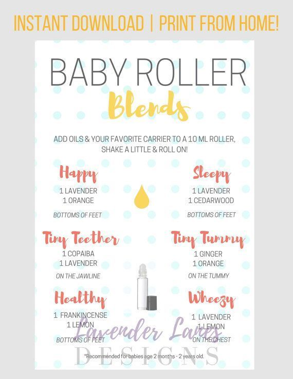PLEASE READ ALL INFORMATION BELOW :) This baby roller recipe card with Young Living essential oils is a wonderful resource for essential oil users!  Details: • Offers oil roller combinations specifically for kids, for many common health and wellness needs