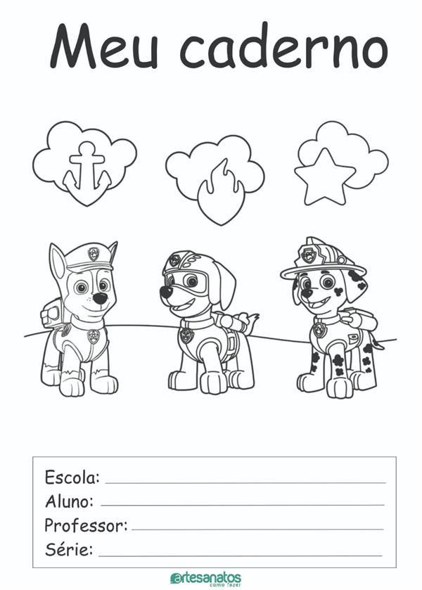 Desenhos Para Capa De Caderno Escolar Para Imprimir Desenhos