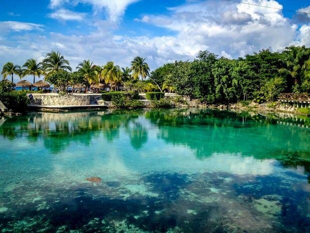 The lagoon at Chankanaab National Park in Cozumel, Mexico (article)