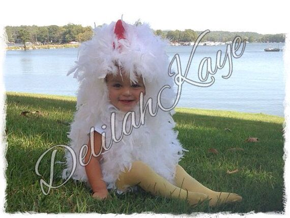 Chicken Halloween Costume 12  18  Months Toddler Fluffy Feathers