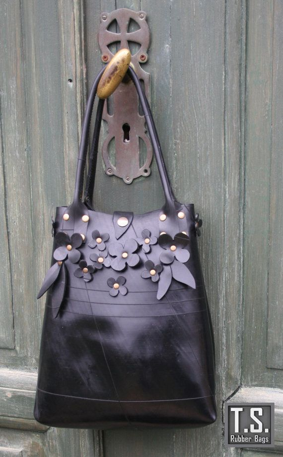 Recycle Rubber Flower Bag