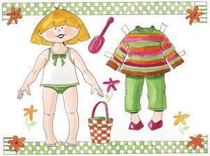 Påklædningsdukken lille Mathilde