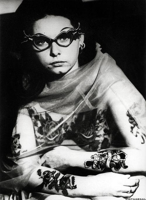 Tattooed Woman, Australia, 1960's