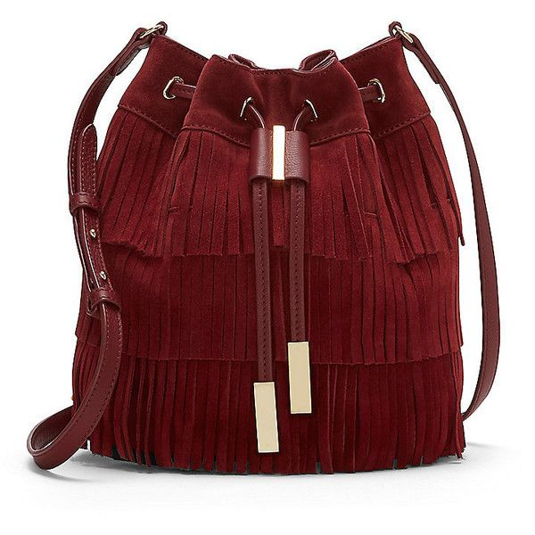 Vince Camuto Joni- Tiered Fringe Cross Body found on Polyvore featuring bags, handbags, shoulder bags, purses, red crossbody, crossbody handbags, fringe shoulder bag, red crossbody handbags and fringe handbags
