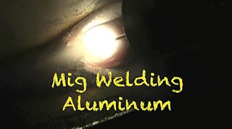Welding Aluminum with a MIG spool gun for the first time EVER - YouTube