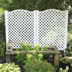 Shop Freedom Grab&Go 31.97-in W x 45.4-in H White Vinyl/Polyresin Outdoor Privacy Screen at Lowes.com