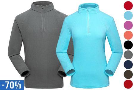 Fleece trui voor dames of heren nu slechts €14,95 | Heerlijk warm, zacht en comfortabel #fleece #warm #trui
