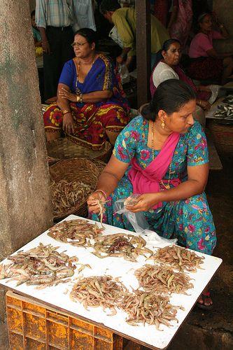 Fish Market in Goa - India