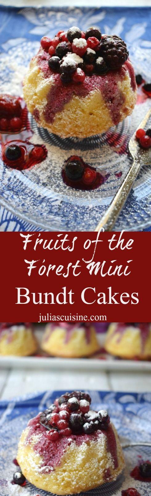Fruits of the Forest Mini Bundt Cakes  http://www.juliascuisine.com/home/fruits-of-the-forest-mini-bundt-cakes