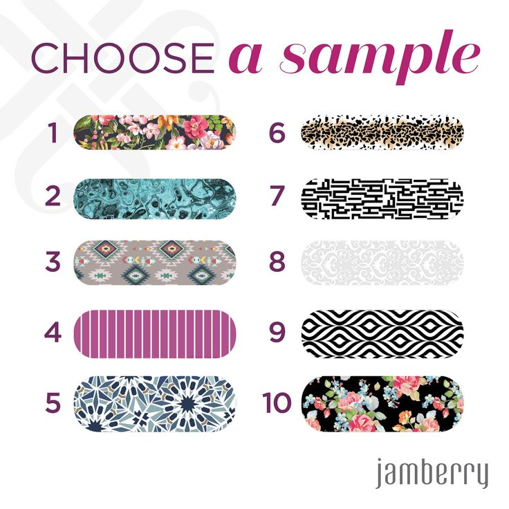 Get a Jamberry sample from me - FREE!