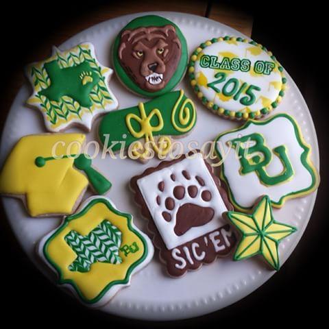 Baylor university graduation 2015  #graduation #sicembears #bears #baylor #texas #cookies #sweets #love #bake #baker #pastries #creation #custommade #cookiesofgram  #customcookies #specialoccasion #madetoorder #etsy #bakery #handmade #cookiestore #congratulations