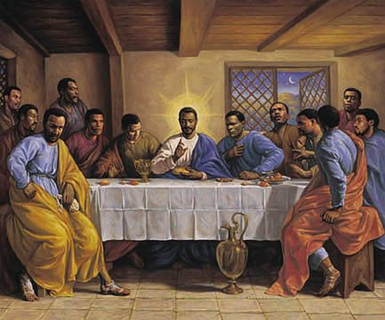 This is truthfully a more accurate painting of what the last supper really looked like.