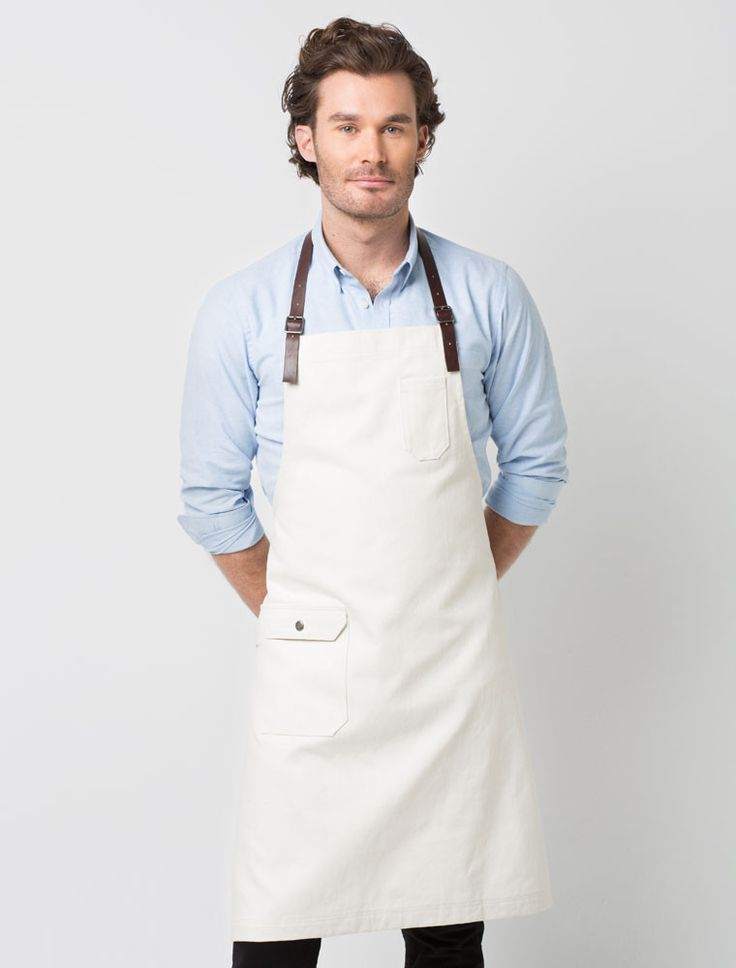 Cargo Crew - Otto Bib Apron - Sulphur with Chocolate Leather Strap - Online Uniform Shop Australia