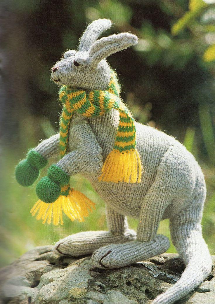 Kangaroo Knitting Pattern : 17 Best images about Australian Knits on Pinterest Emu, Tea cosy knitting p...