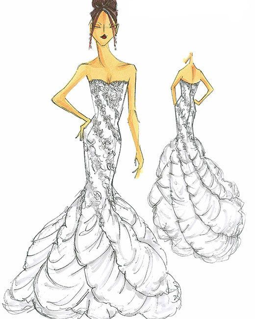 7 Best Wedding Dress Sketches Images On Pinterest