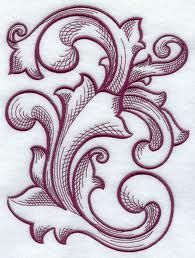 baroque embroidery designs