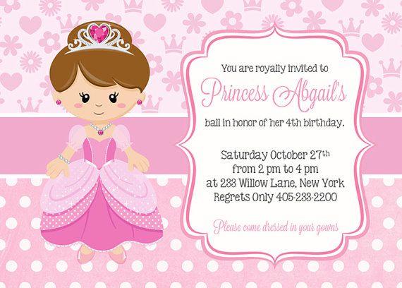 Princesa cumpleaños invitación invitación de por SugarPickleParty