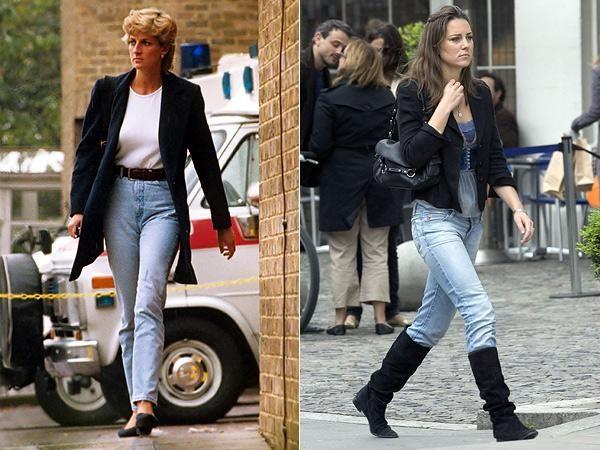 Кейт Миддлтон и принцесса Диана: стиль одежды