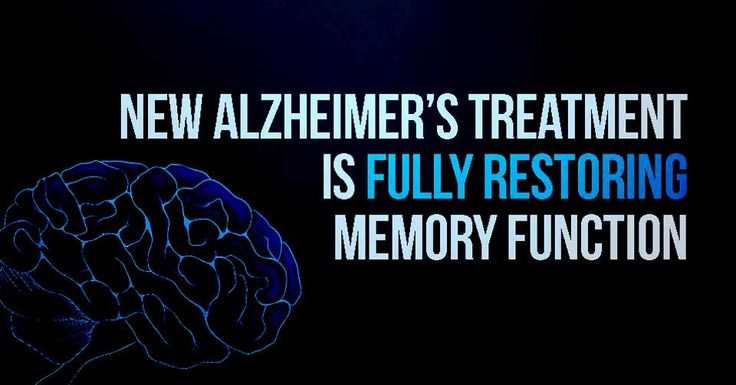 New Alzheimer's Treatment Fully Restores Memory Function...