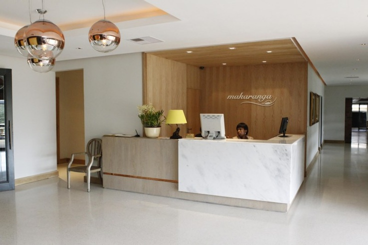 Reception counter at hotel designed whilst at Chisel Design