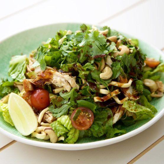 Crispy Noodle Chicken Salad with Hoisin Dressing
