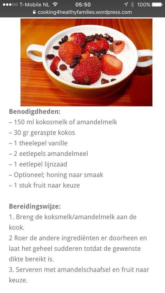 ontbijt of toetje,met lekkere aardbeien