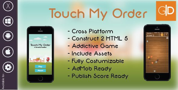 Touch My Order Addictive Game | HTML 5 Construct 2 Template + AdMob + Publish Score Ready #Admob, #Construct2, #CrossPlatfrom, #Game, #Games, #GookDev, #Html5, #Ios, #Iphone, #Reskin, #TopGame http://goo.gl/TDLT4G