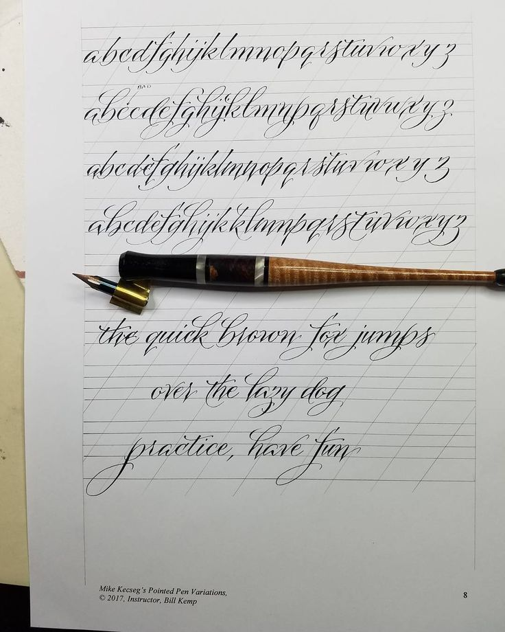 Pointed Pen variation to be taught at Castle in the Air, May 27 & 28. Finishing up my work books. #castleintheair #pointed pen #calligraphy #teaching #privatetutorial