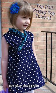 cute tunic.  A ruffle collar would be really cute.Little Girls, Pop Pop, Free Pattern, Tops Tutorials, Dresses, Pop Preppy, Kids Clothing, Sewing Easy, Preppy Tops