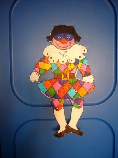18 best carnevale per bambini images on pinterest art for Arlecchino da colorare