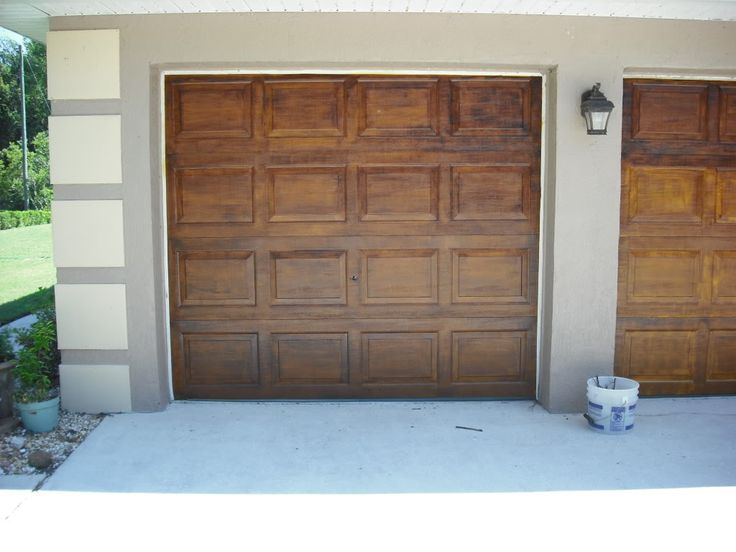 The 25 best faux wood garage door ideas on pinterest for Faux painted garage doors