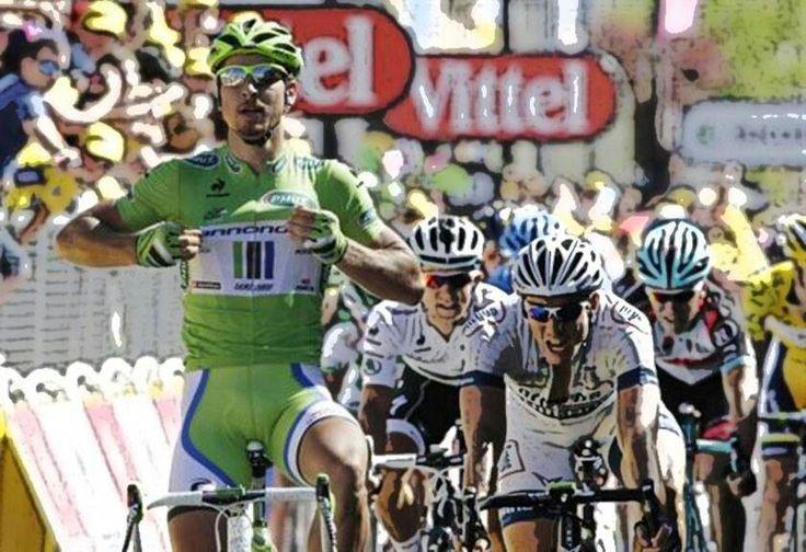 Sagan ganando el sprint en el Tour