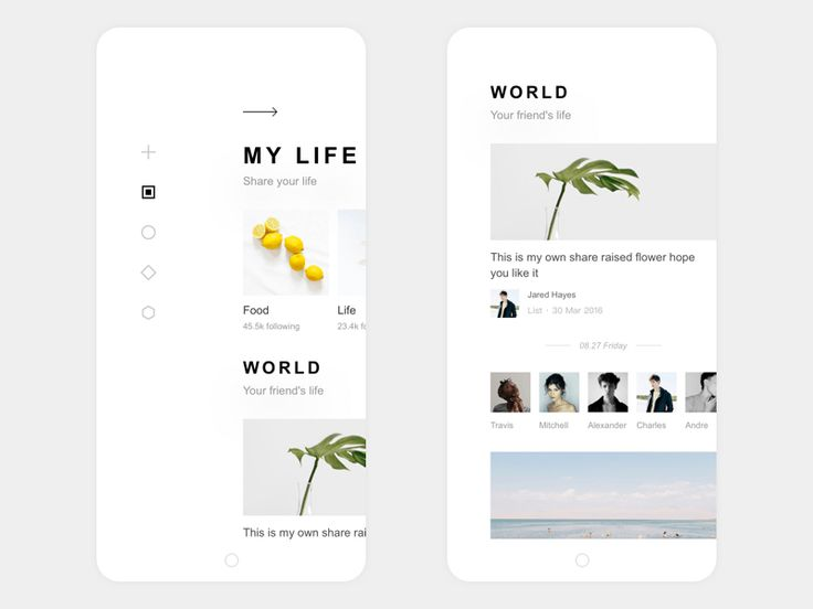 My life APP Design Home - via @designhuntapp