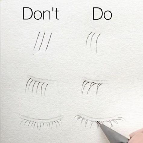 How to (correctly) Draw -> Eyelashes (Human Anatom…