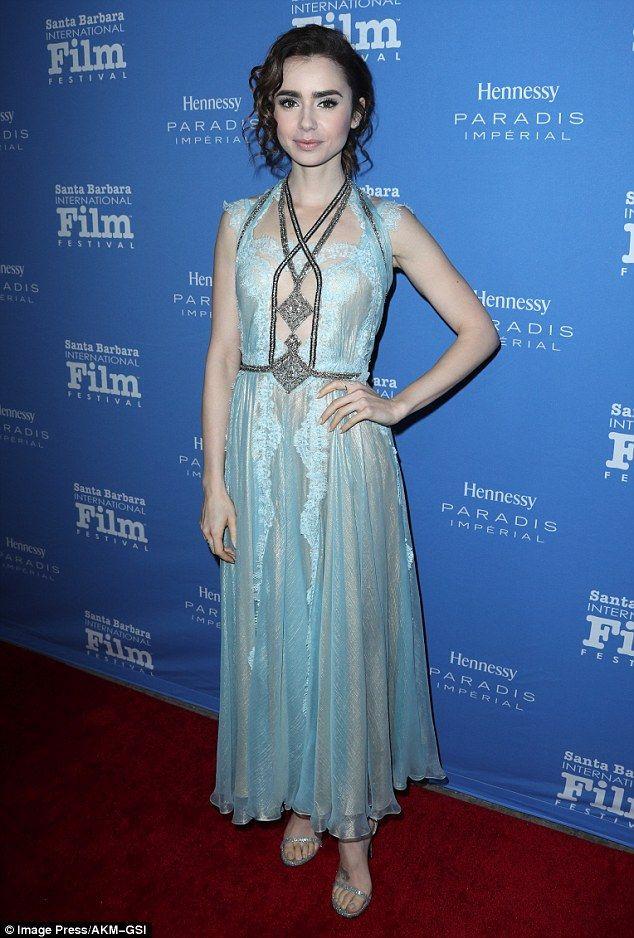 Lily Collins attends Santa Barbara International Film Festival's Kirk Douglas Awards Honoring Warren Beatty on December 1, 2016